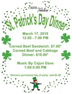 St. PATRICK'S DAY PARTY @ Weeki Wachee Eagles