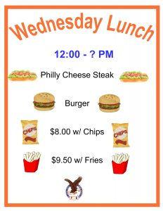 WEDNESDAY LUNCH @ Weeki Wachee Eagles