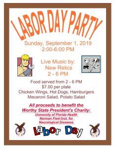 LABOR DAY PARTY @ Weeki Wachee Eagles