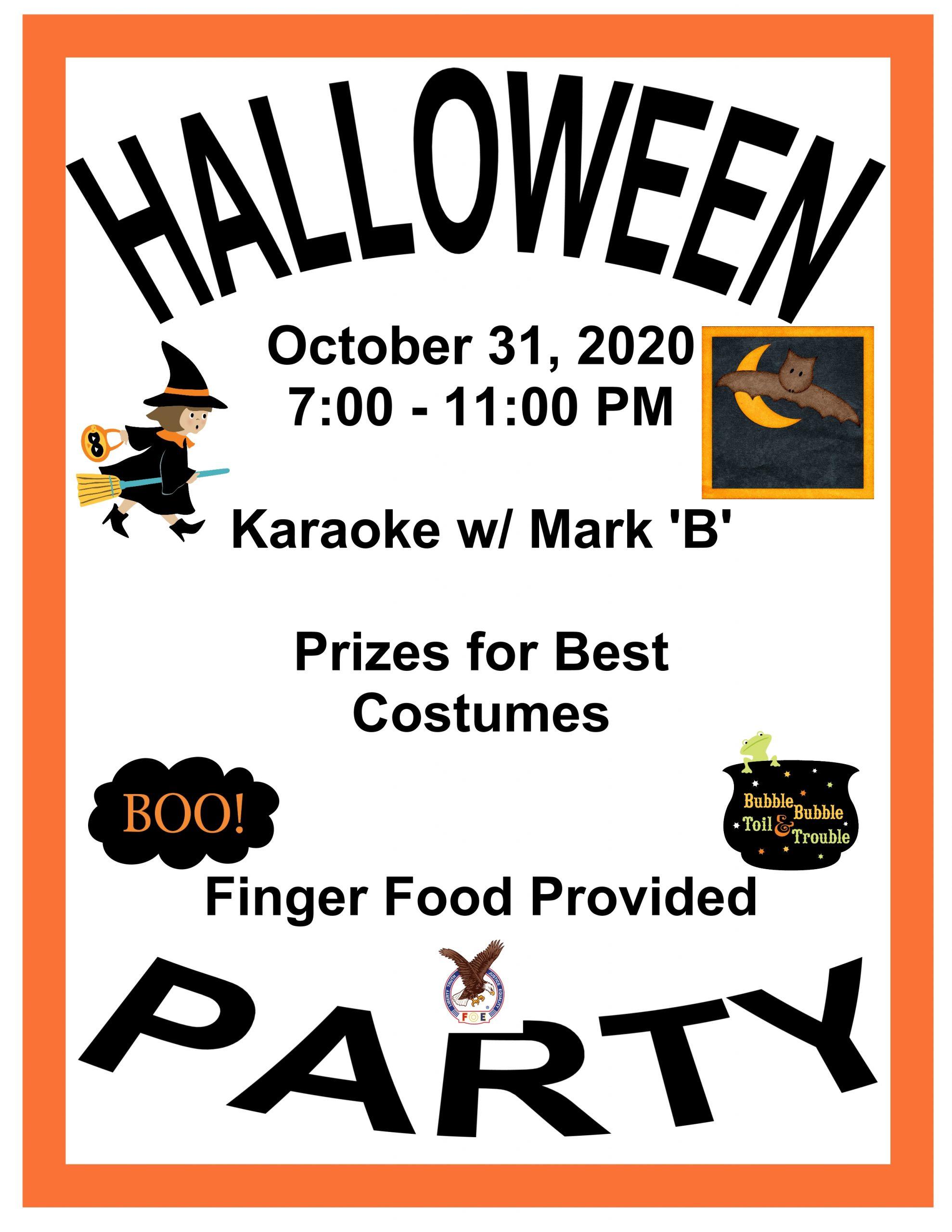 Weeki Wachee Halloween 2020 Halloween Party Poster 001 | Weeki Wachee Eagles
